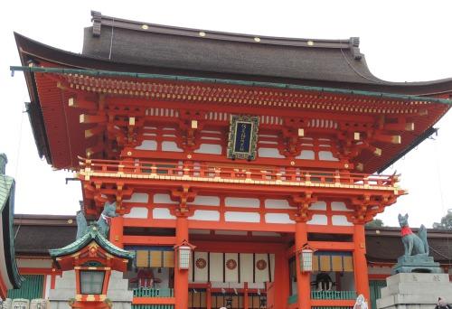 Two Fox Statues Fushimi Inari-taisha