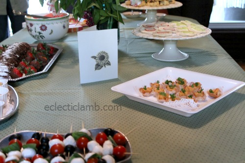 View of Tea Party Food Table