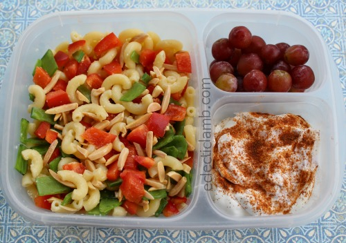 Pasta Snow pea Red Pepper lunch