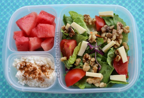 Salad Cottage Cheese watermelon lunch