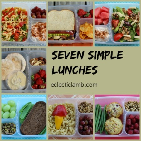 Seven Simple Lunches Collage