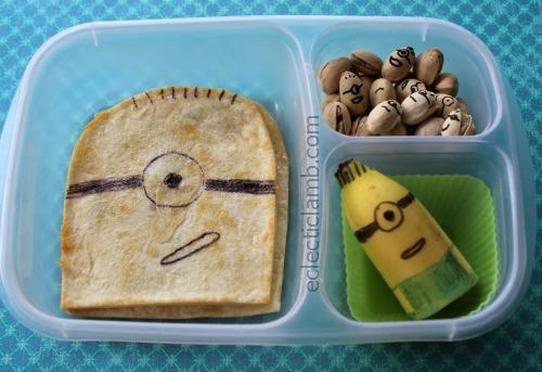 Minion Quesadilla Lunch