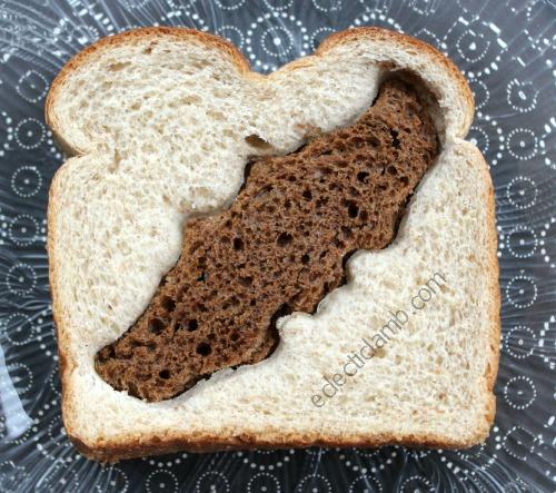2 bread cut-out sandwich