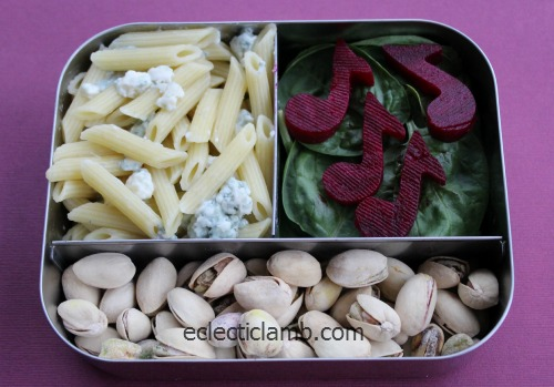 Beet Musical Notes Bento Lunch