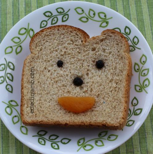 Dried Fruit Face Sandwich