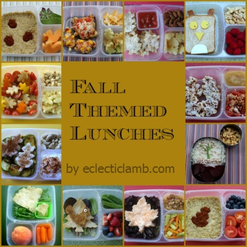 Fall Themed Lunches Collage