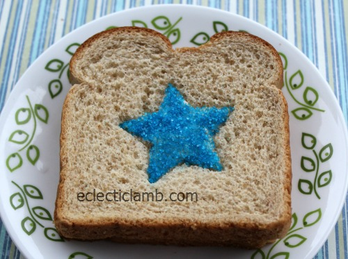 Sanding Sugar Shape Sandwich