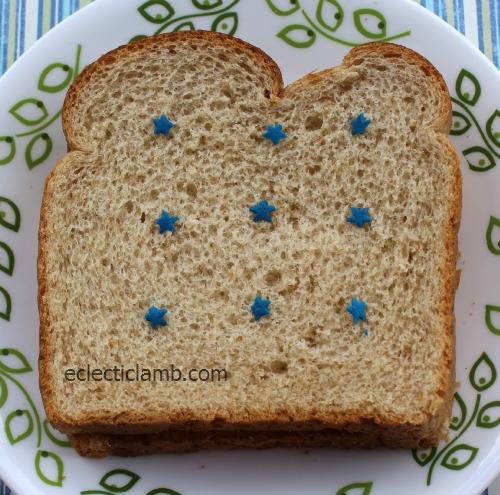Sprinkle Shapes Sandwich