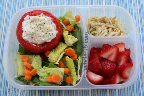 Cottage cheese tomato lunch