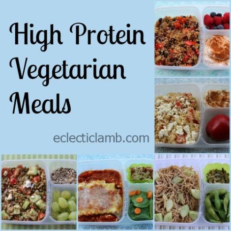 High Protein Veg Collage
