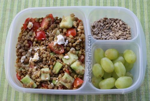 Lentil Feta Salad Protein Meal