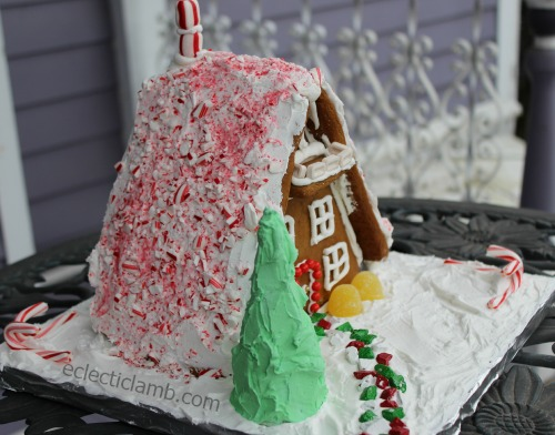 A-Frame Candy Cane Roof Front Side