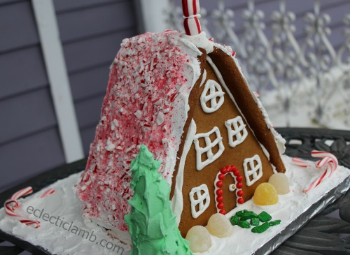 A-frame Gingerbread House Back