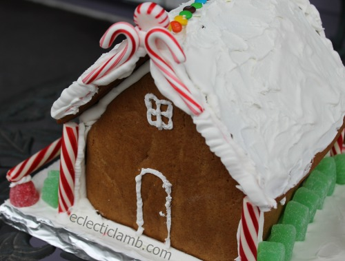 Gingerbread House Candy Cane Back