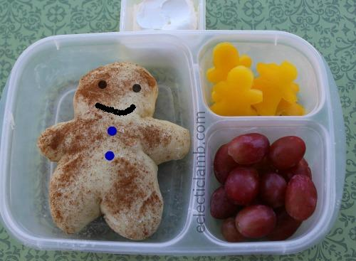 Gingerbread Man Face Bread Lunch