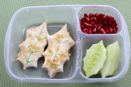Holly Themed Lunch