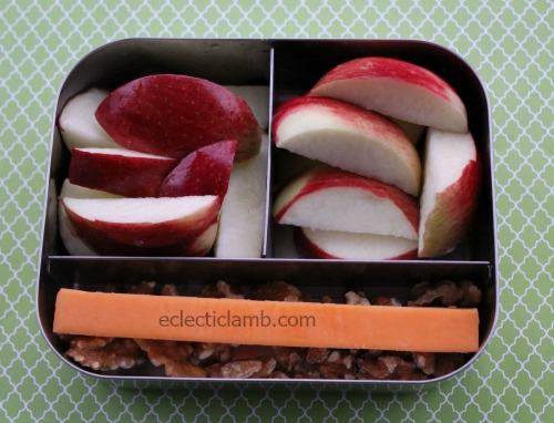 Apples Cheddar walnuts breakfast