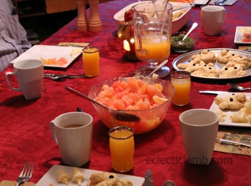 Christmas Breakfast Table Dad