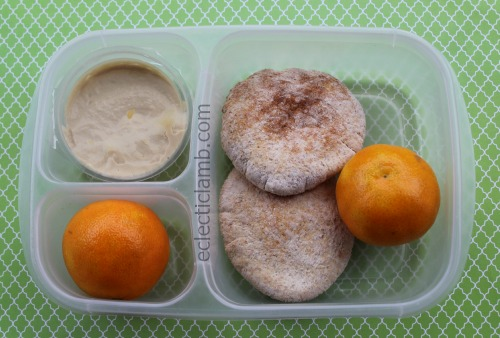 Hummus Pita Clementine Breakfast