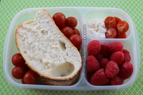 Ricotta Tomato Italian Bread Raspberries Breakfast