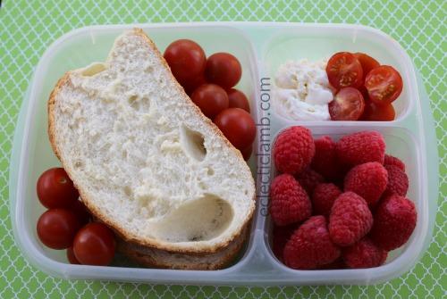 Ricotta Tomato Italian Bread Raspberries Breakfast