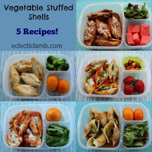 Vegetable Stuffed Shells Collage