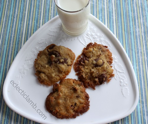 Pecan Cookies and Milk