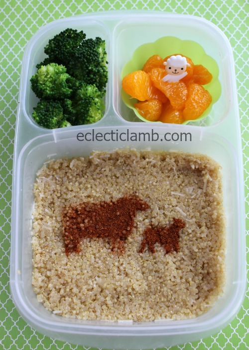 Sheep stencil food