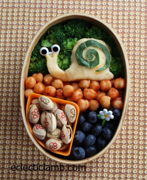Snail bento lunch