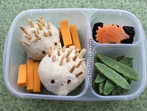 Hedgehog shaped bread themed food