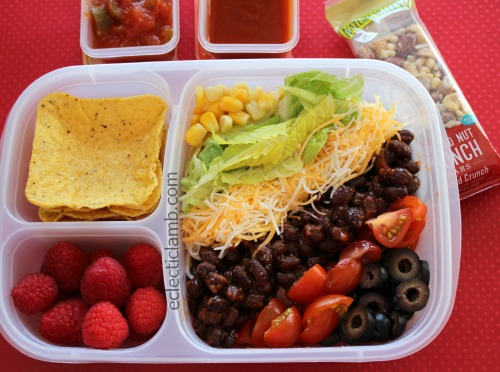 Taco Salad packed for lunch