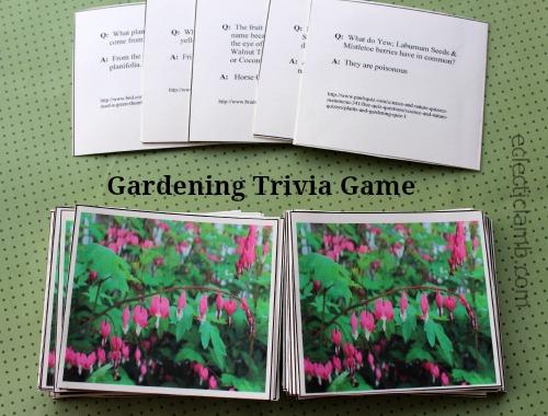 Gardening Trivia game