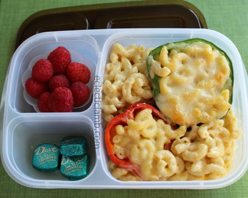 Mac and cheese stuffed peppers teen lunch