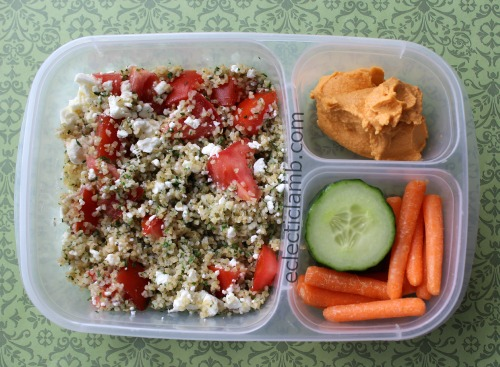 Tabouli Red Pepper Hummus Lunch