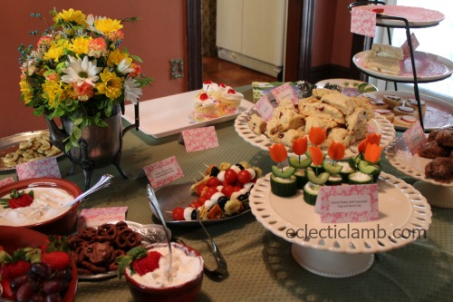 Tea Food Table after