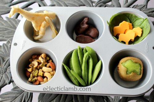 Africian Animal Muffin Tin Meal