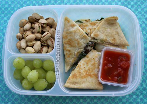 Spinach Quesadilla lunch