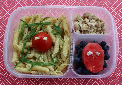 Spiderman Pasta Lunch