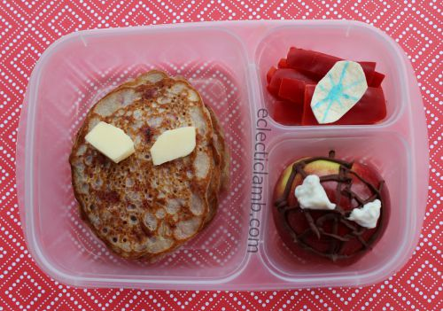 Spiderman Raspberry Pancake Lunch