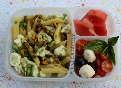 Cauliflower Pistachio Pasta Lunch