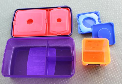 Fit and Fresh Cool It and Dip N Dunk Containers Inside