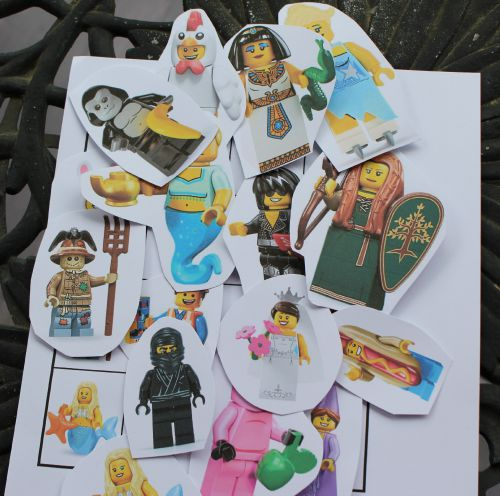 Lego Minifigure Cut Out Scavenger Hunt