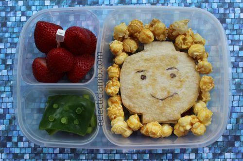 Lego Minifigure Head Lunch