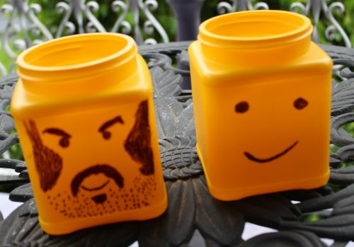 Make Own Lego Head Storage Containers