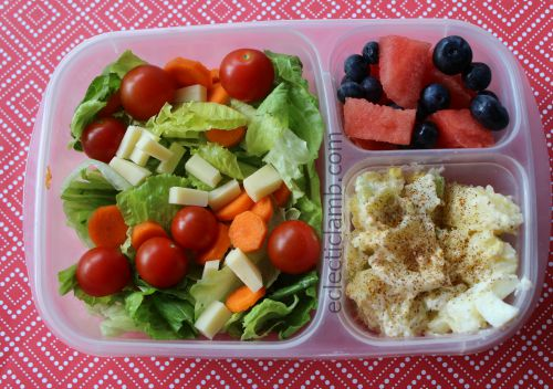 Pasta Potato Fruit Salads for lunch