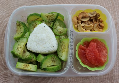 Rice ball zucchini lunch