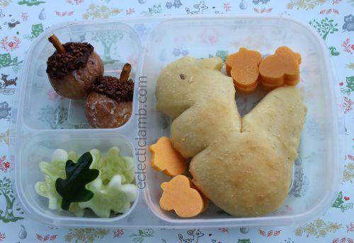Squirrel bread lunch