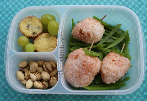 Strawberry rice in Easy Lunchbox