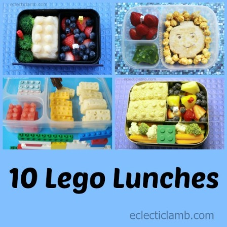 10 Lego Bento Lunches Collage