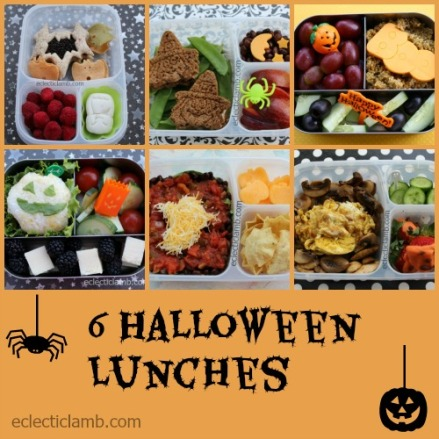 6 Halloween Lunches Collage